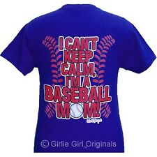 "Girlie Girl Originals ""Stitches-Baseball Mom"" Royal ADULT unisex fit t-shirt"