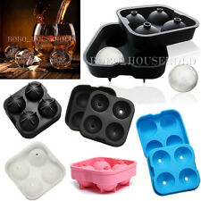 Silicon Ice Cube Ball Mold Whiskey Tray Round Maker Sphere Mould For Party Bar