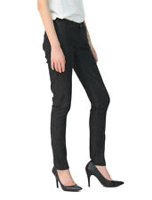 Stitch's Ladies Skinny Jeans Womens Soft Jeggings Black Denim Trouser All Size