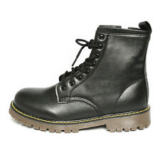 New Men's Fashion Zip Up Mid High Calf Martin Military Boots Shoes 3 Colors