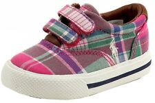 Polo Ralph Lauren Toddler Girl's Vaughn EZ Fashion Pink Sneaker Shoes