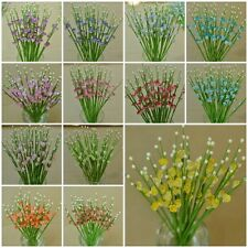 25, 100 MULBERRY PAPER MINI GYPSO GLADIOLUS FLOWER GYPSOPHILA VARIOUS COLOR 5 mm
