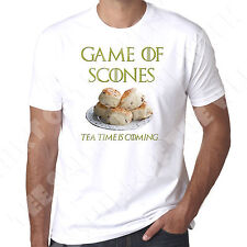 Game Of Scones Tea Time Is Coming game of thrones spoof  Mens Tshirt