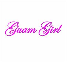GU-06 Guam Girl - car window vinyl decal sticker - 15 colors available