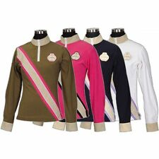 Equine Couture Berwick Long Sleeve Zip Polo Shirt - Diff Sizes & Colors - SALE!