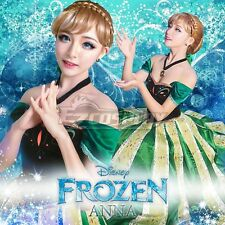 Disney Frozen Anna Outfit Coronation Dress Princess Cosplay Costume-Deluxe Ver