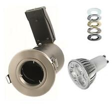 9 Watt Dimmable LED Fire Rated Downlights Spotlights 240V Fixed Die Cast