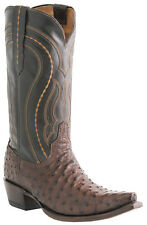 Lucchese Since 1883 M1607.S54 Mens Sienna Brown Full Quill Ostrich Cowboy Boots