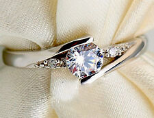 Gorgeous Wedding Ladies 925 Sterling Silver  Engagement Bridal Ring ALL SIZES