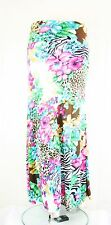 New Women Animal&Pink Floral Print Easy Maxi Long Skirt S/M/L/XL