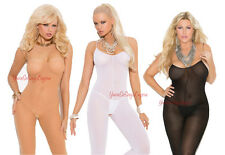 Plus Size OPAQUE BODYSTOCKINGS Crotchless Tank Style Single OR 3 LOT Queen