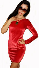 "NEW! ""Mac & Jac"" Sexy, Stretching, Velour, One-Shoulder Mini Dress S M L Juniors"