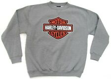 HARLEY DAVIDSON 2014 BAR AND SHIELD GREY MENS SWEATER JUMPER