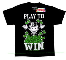 NEW YOUTH Medium Monopoly Play To Win T Shirt with tag money cash board game