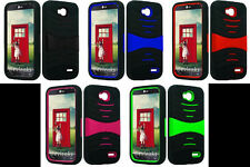 LOTS OF 3 items Faceplate Phone Cover PRO ARMOR U-Case FOR LG Optimus L90 / D415
