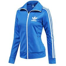 adidas Originals Womens Europa Full Zip Track Top Tracksuit Jacket Blue Size 16