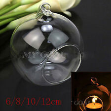 Clear Glass Hanging Candle Tea Light Holder Candlestick Wedding Party Home Decor