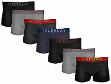 NEW 7 MULTIPACK MENS BOYS DAYS OF THE WEEK STRETCH COTTON BOXER SHORT TRUNKS