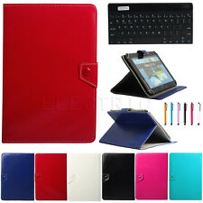 """Universal Slim Bluetooth Keyboard Leather Case Cover For 9.7"""" -10.1"""" Tablet PC"""