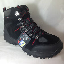 MENS black WATERPROOF TRAINERS SHOES BOOTS HIKING WALKING TRAIL suede leather