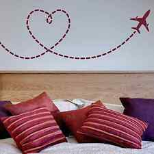 Love heart, fly away, plane, bed, couple, Wall Sticker Decal, SS2227