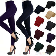 Warm Lady Womens Winter Skinny Slim Leggings Stretch Pants Thick Footless Tights