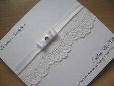 Evening Wedding Invitation - Vintage Lace & Satin - Two Designs