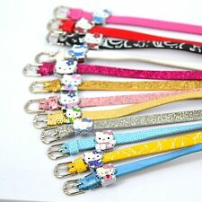 wholesale 5/10/30pcs Random Lovely Hellokitty Silder Bead charm leather bracelet
