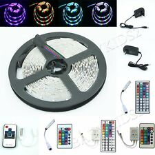5M SMD 3528 RGB 300LED Flexible LED Strip 24 / 44 Key IR 12V 2A Power Adapter