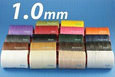 PROMO!! 1.0mm RITZA 25 Tiger Wax Thread for Leather Hand Sewing Many Colours-25m