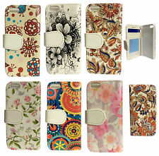 Floral Flower Flip Leather Case Cover for Samsung iPhone Sony Xperia Phones