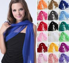 New Fashion Women Lady Long Chiffon Neck Scarf Scarves Wrap Soft Stole Shawl