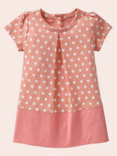 NEW GAP PLEATED DOT SHIFT DRESS SIZE 6-12-18-24M