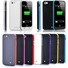 For iPhone 5 5S 2500mAh External Battery Backup Charger Case Pack Power Bank