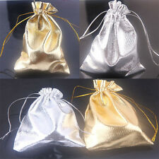 25/50X Gold/Silver Plated OrganzaWedding Party Favour Bag Candy Pouch Gift Bags