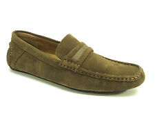 Calvin Klein Michael Suede Slip-On Loafers - Dark Tan