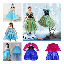 New Frozen Princess Girl Queen Elsa Anna Cosplay Costume Party Fancy Dress Cloth