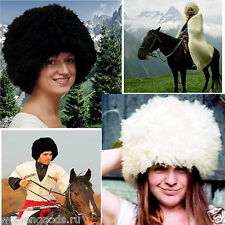 "Handmade~UNSHORN~SHEEPSKIN~RUSSIAN KOZAK ""PAPAKHA""~large~FUR HAT~Men's~Women's"