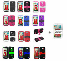 LG Optimus Exceed 2 VS450PP (Verizon) Rugged Phone Case with Stand