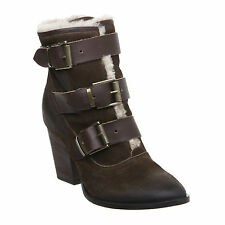 Pied A Terre Ladies Women Ohanian Multi Strap Leather Ankle Boots ExDisplay BNIB
