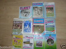 Burnley Home Programmes 1980's -  Select from list