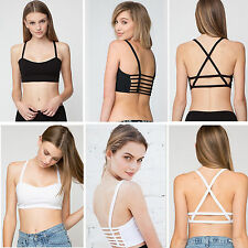 Women Ladies Cut Out Cup Padded Newly Party Bralet Boobtube Bra Vest crop Top