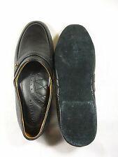 Mens black house slippers Florisheim size 8.5M
