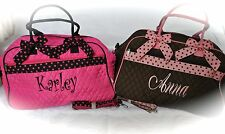 QUILTED MONOGRAMMED LARGE TRAVEL DUFFLE BAG - DANCE CHEER BRIDESMAID GIFT BAG