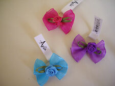 Aria Sunday Rose hair bows for dogs