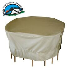 Outdoor Garden Heavy Duty Patio Round Table and Chairs Set Cover Medium Large