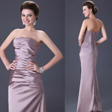 Formal New Mermaid Sexy Satin Prom Bridesmaid Formal Cocktail Long Evening Dress