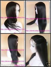 Fashion Yaki Straight Lace Front Wig /Full Lace Wig Remy Human Hair Natural line