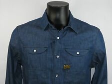 G-Star Men Hemd RANCH SHIRT L/S 83550A.4838.001 RAW Jeansblau +NEU+ Größe M - XL
