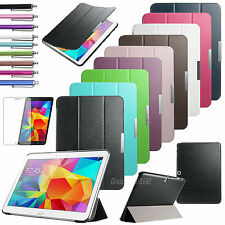"For Samsung Galaxy Tab 4 10.1"" SM-T530NU Tablet Folio Smart Leather Cover Case"